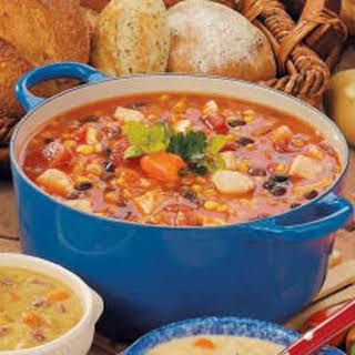 Southwestern Chicken Barley Soup.