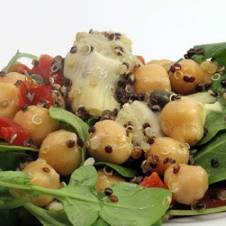 Firecracker Quinoa Salad w/ Chickpeas & Artichokes