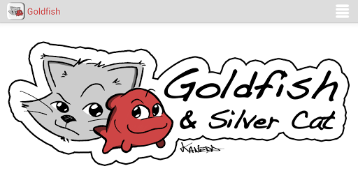 Goldfish and Silver Cat