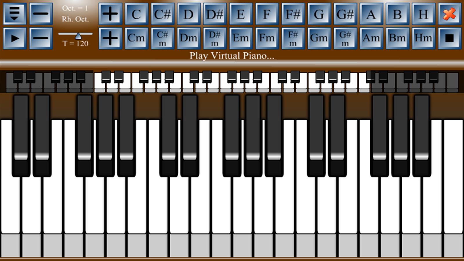 Virtual piano android apps on google play virtual piano screenshot hexwebz Images