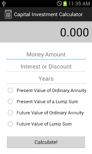 Capital Investment Calculator