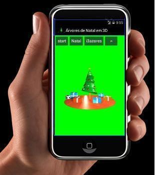Árvores de Natal Rotativas 3D