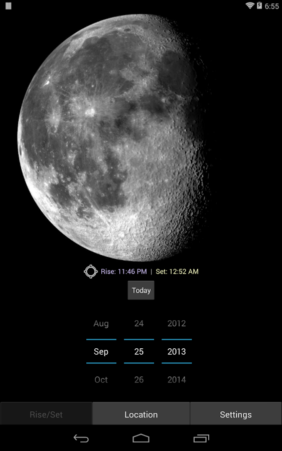 Moon Phase Calculator - screenshot