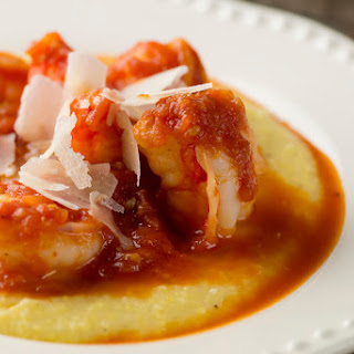 Shrimp Marinara with Polenta.