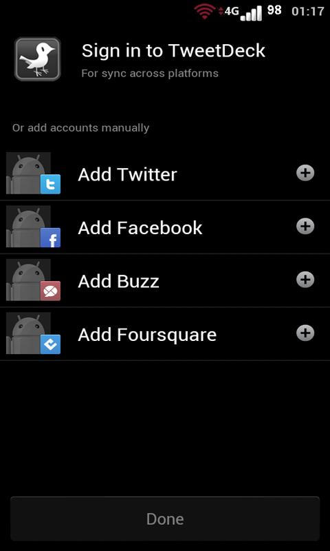 TweetBlackGray Tweetdeck Free - screenshot