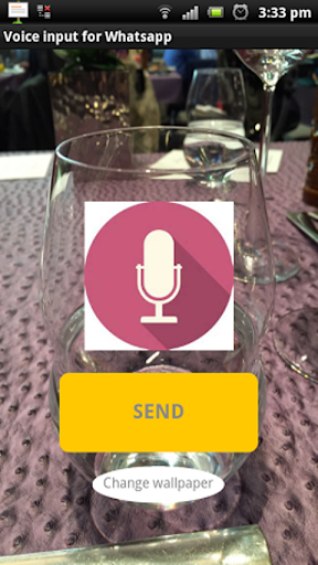 Voice input for WhatsApp
