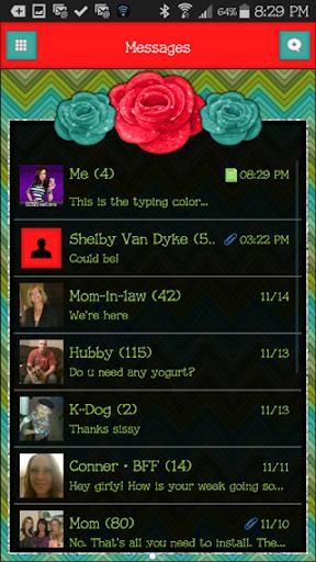 GO SMS THEME - SCS381