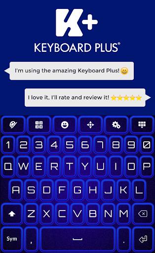 霓虹蓝色键盘