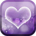 Purple Hearts Live Wallpaper icon