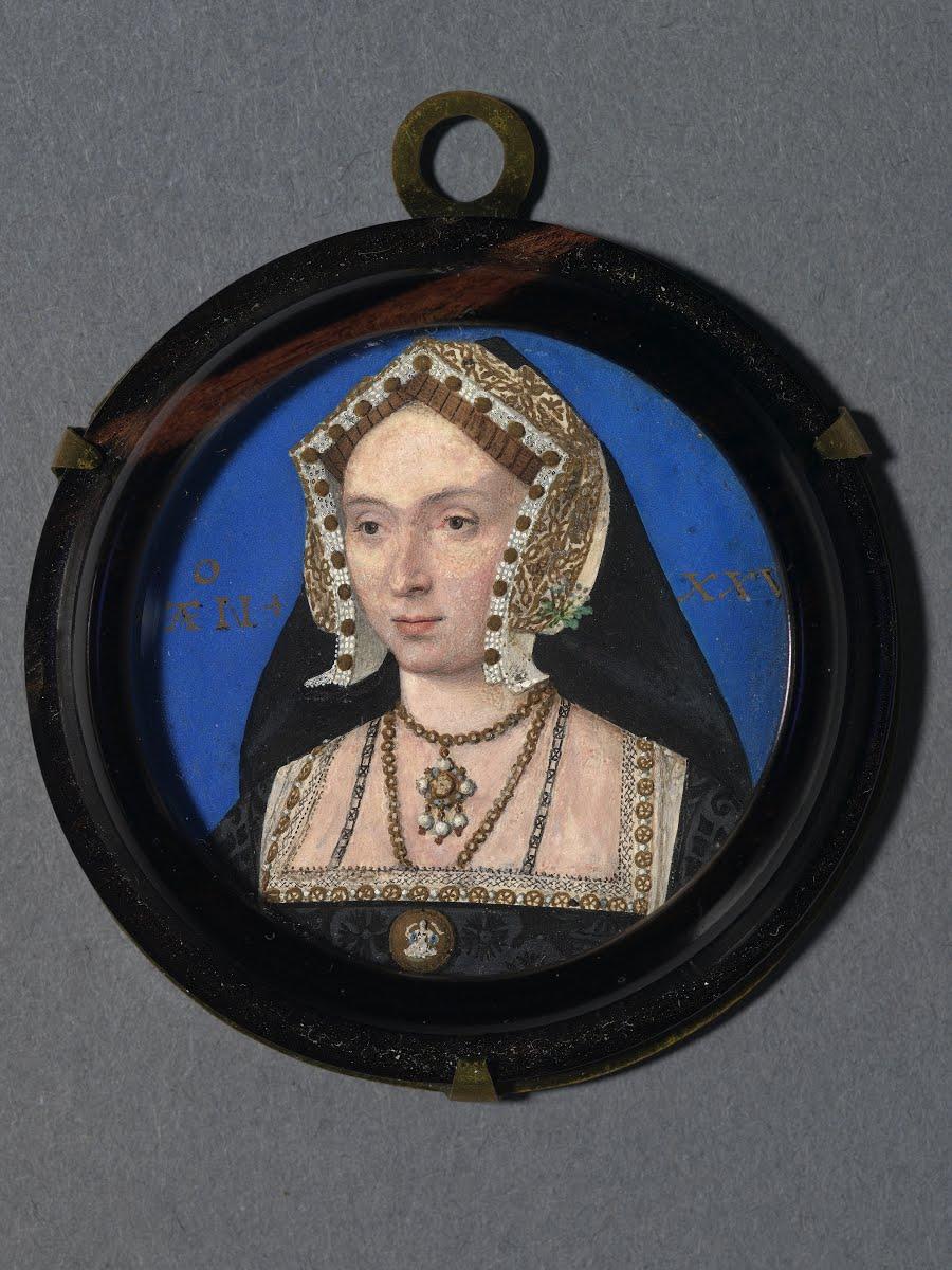 Portrait miniature possibly of Anne Boleyn - Lucas Horenbout (Flemish,  c.1490/95-1544, active in England 1524- 1544) — Google Arts & Culture