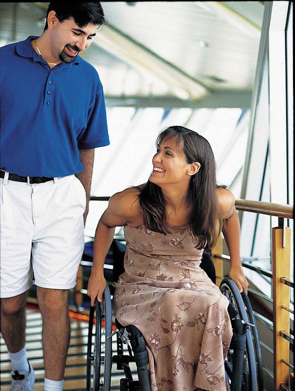 Explorer of the Seas' entertainment venues, decks and accommodations are designed for easy accessibility.