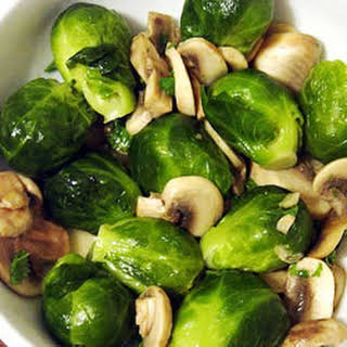 Brussels Sprouts With Mushrooms.