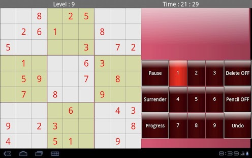 Tablet Sudoku - screenshot thumbnail