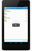 Screenshot of CashFlow Free Expense manager
