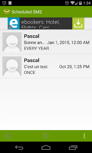 Scheduled SMS