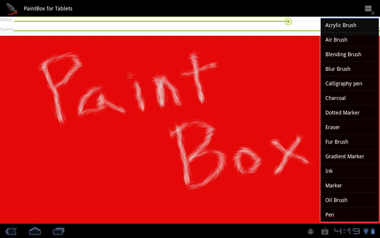 PaintBox For Tablets- screenshot