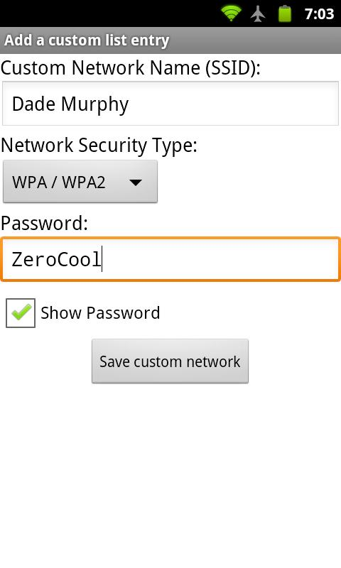 WiFi QR Share- screenshot