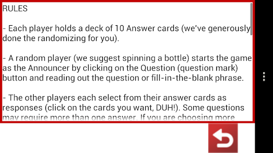 Horrible Cards- screenshot thumbnail