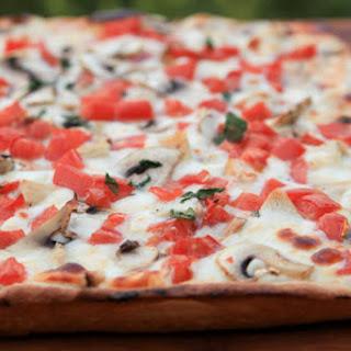 Chicken Pizza with Creamy Garlic Sauce.
