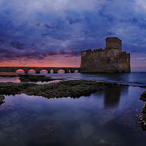 Torre Astura by Luca Libralato - Landscapes Waterscapes ( astura tower, lazio, latina, torre astura, mar tirreno, agro pontino )