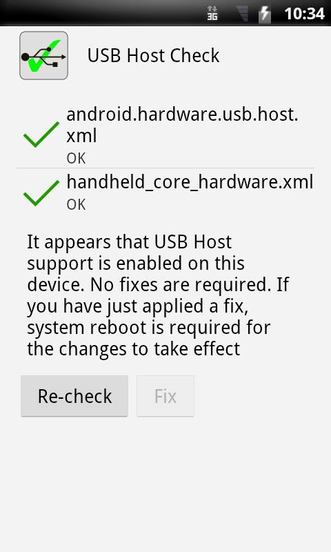 USB Host Check - screenshot