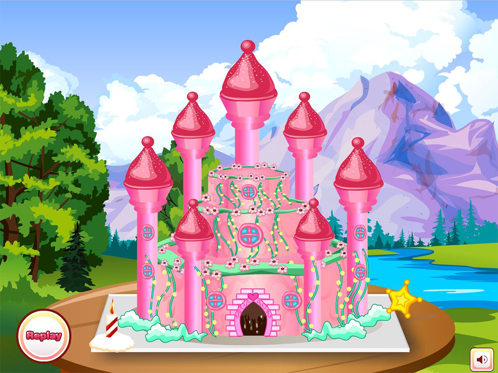 Princess Castle Cake Decorations