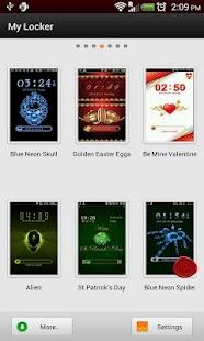 GO Locker Neon Blue Spider - screenshot thumbnail