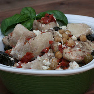 Basil Chicken with Feta Slow Cooker.