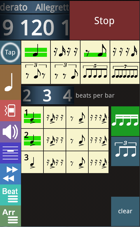 Metronomerous - pro metronome - screenshot