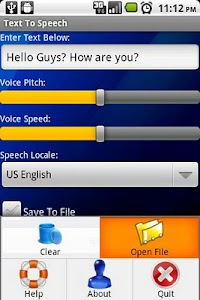 Text To Speech screenshot 0