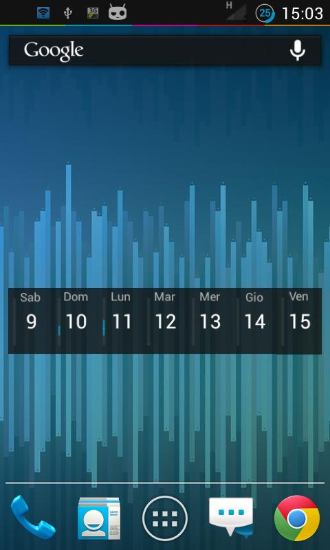 Weekly Calendar Widget - screenshot