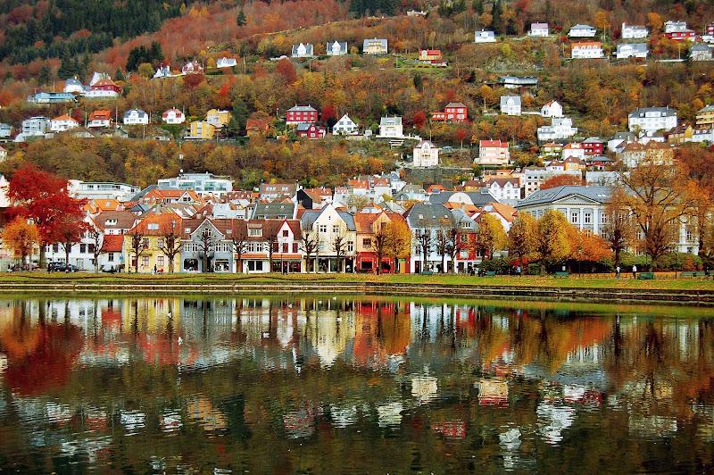 Lille Lungegårdsvannet in Bergen, Norway.