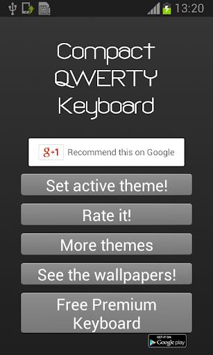 緊湊的QWERTY鍵盤
