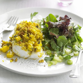 Baked Fish With Mint & Mango Relish