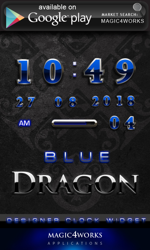 blue dragon GO Locker - screenshot