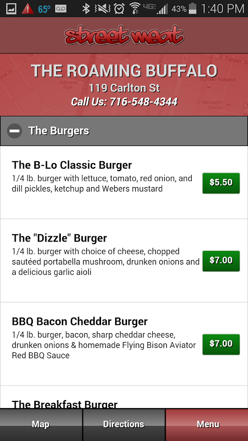 StreetMeat Food Truck Finder- screenshot