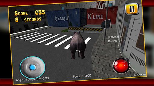 怒っているRhinoのシミュレータ3D|玩模擬App免費|玩APPs