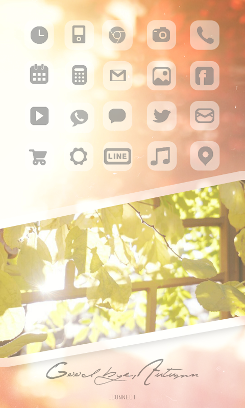 Good bye autumn icon theme - screenshot