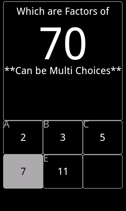 Math Choices- screenshot