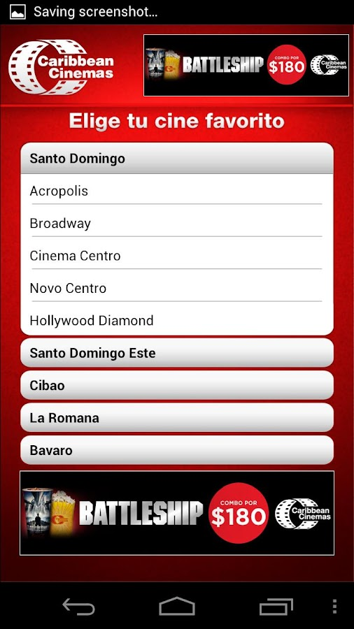 Caribbean Cinemas RD- screenshot