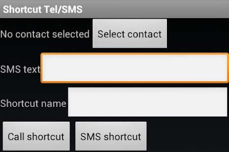 SMS/Call shortcuts - screenshot thumbnail