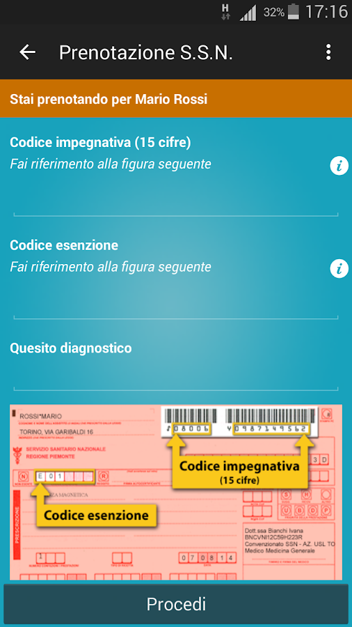 myCUP Candiolo- screenshot