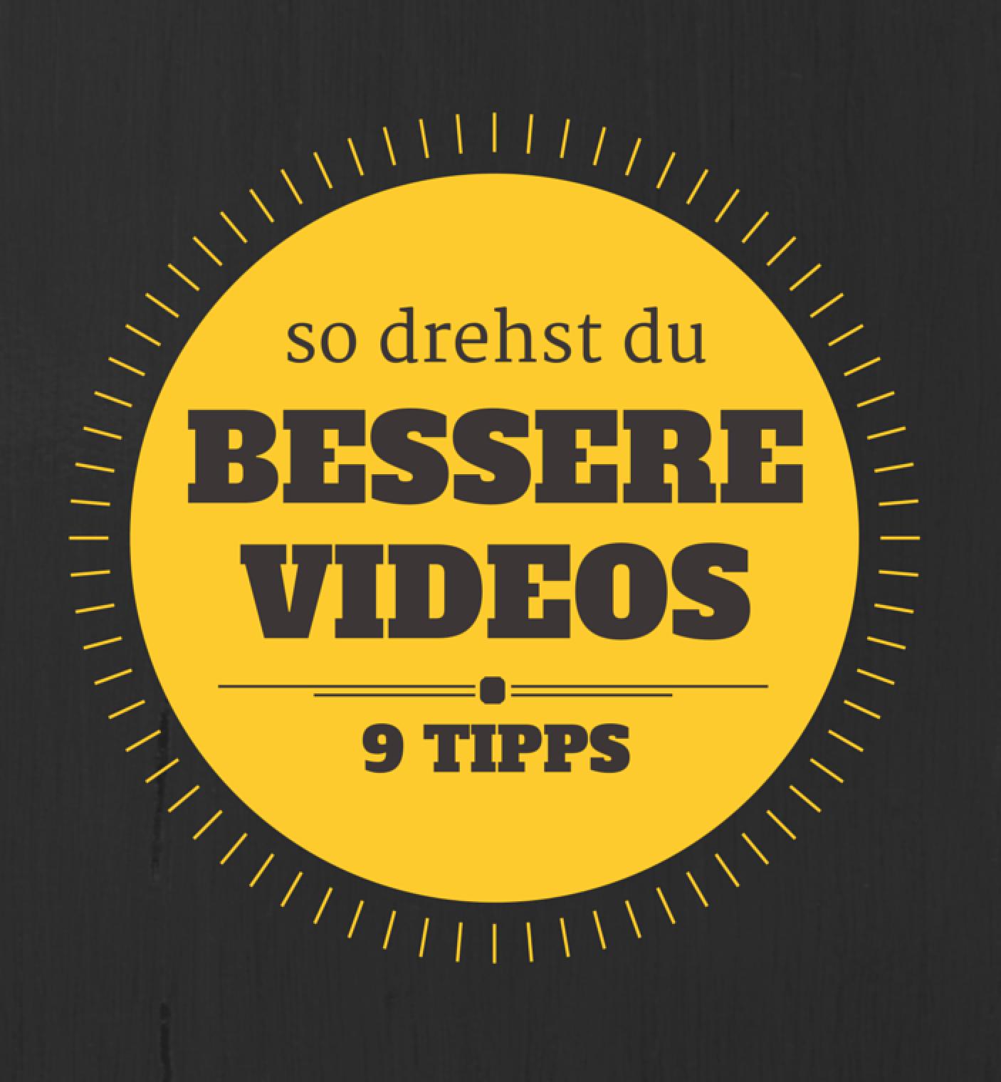 PDF: 9 Tipps für bessere Videos