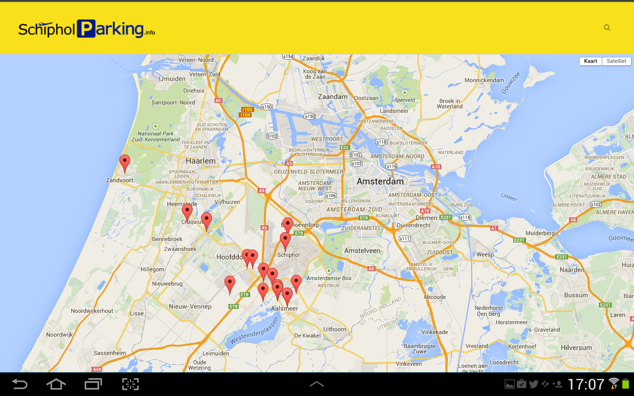 Schiphol Parking- screenshot