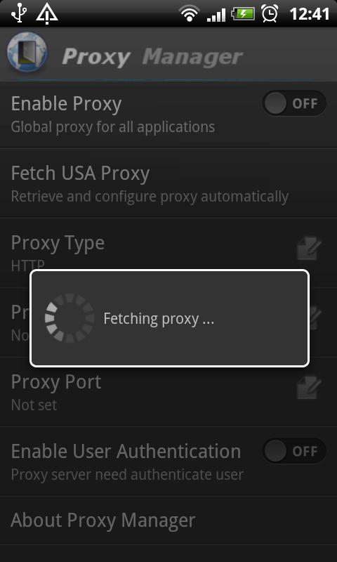 Proxy Manager- screenshot