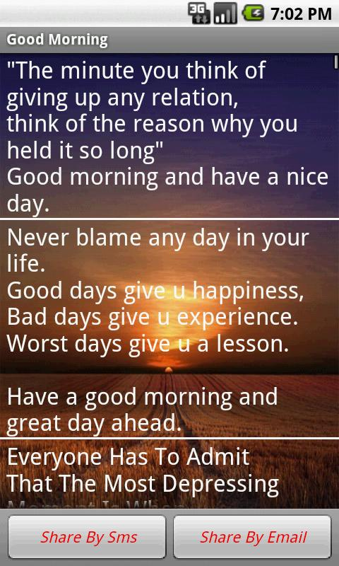 Good Morning Messages - screenshot
