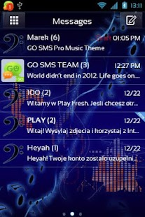 GO SMS Pro Music Theme - screenshot thumbnail