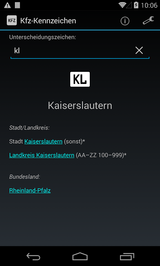 German license plates- screenshot