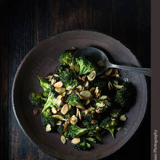 Curried Broccoli with Almonds.