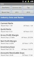 Screenshot of Sageworks Industry Data